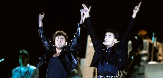 Wham! on stage