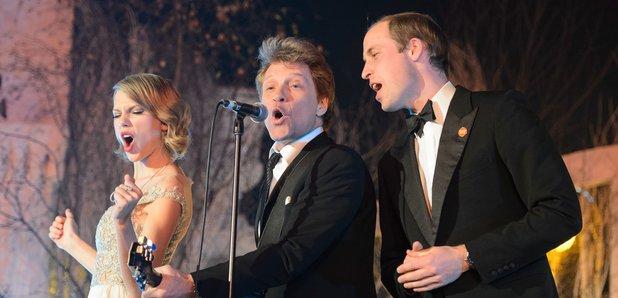 Taylor Swift, Jon Bon Jovi, Prince William