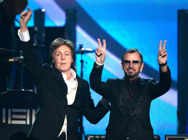 Paul McCartney and Ringo Starr at the Grammy Award