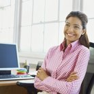 Lady At Work In Office