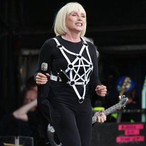 Debbie Harry of Blondie performing at Glastonbury