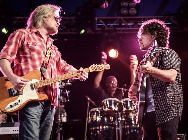 Hall and Oates performing at Latitude Festival 2014