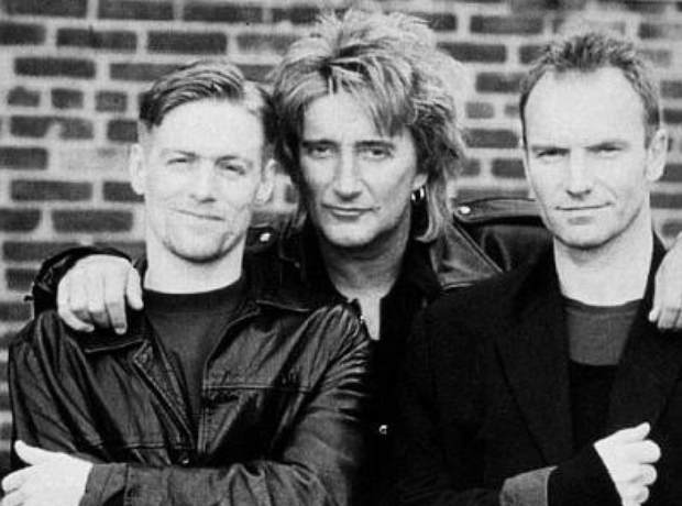Bryan Adams, Rod Stewart and Sting