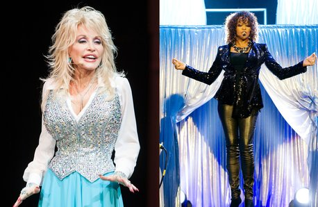 Dolly Parton and Whitney Houston