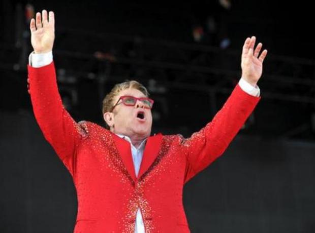 Elton John at Kingsholm 7th June 2015