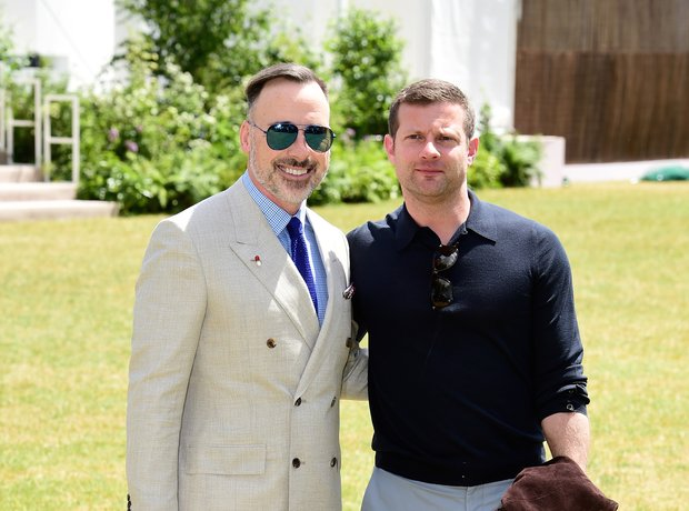 David Furnish Dermot O'Leary