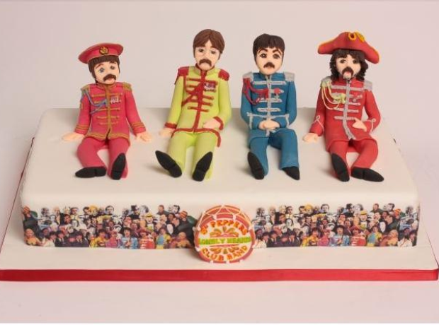 music inspired beatles cakes