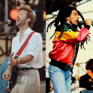 Bob Marley and Eric Clapton