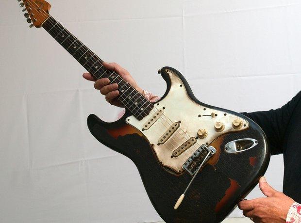 Jimi Hendrix Fire Guitar