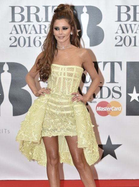Cheryl Red Carpet Arrivals Brit Awards 2016
