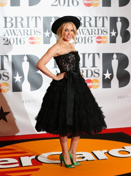 Kylie Minogue Red Carpet Arrivals Brit Awards 2016